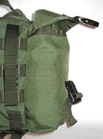 Подсумок-боевой ранец (сухарная сумка), вид на боковой.