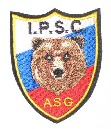 IPSC Russia ASG, малый знак, HU017 - IPSC Russia ASG,малый знак