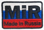 Вышитый знак MIR (made in Russia),  SB416